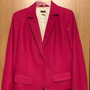 J. Crew fuschia wool blend one button blazer 10